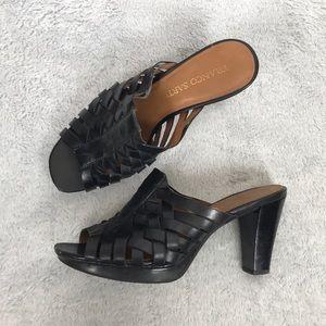 Franco Sarto leather weave heeled sandal